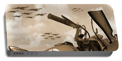 Portable Battery Charger featuring the photograph 1942 Indian 841 - B-17 Flying Fortress - H by Mike McGlothlen