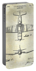 1946 Airplane Patent Portable Battery Charger