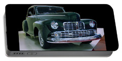 Portable Battery Charger featuring the photograph 1946 Lincoln Convertible by Chris Flees