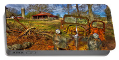 1947 Dodge Dump Truck Country Scene Art Portable Battery Charger by Reid Callaway