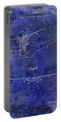 1947 Helicopter Patent Blue Portable Battery Charger