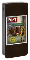 1947 Saturday Evening Post Magazine Cover Portable Battery Charger