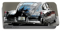 1948 Fastback Cadillac Portable Battery Charger by Robert Meanor