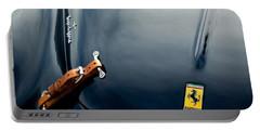 1950 Ferrari Hood Emblem Portable Battery Charger by Jill Reger