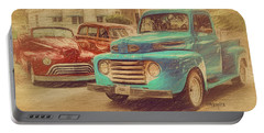 1950 Ford Truck Classic Cars - Homecoming Portable Battery Charger by Rebecca Korpita