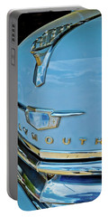 Portable Battery Charger featuring the photograph 1950 Plymouth Coupe by Linda Unger