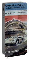 1950 Porsche Le Mans Poster Portable Battery Charger