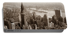 1950 View Of Chrysler Building Ny Portable Battery Charger