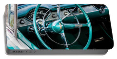 Portable Battery Charger featuring the photograph 1955 Chevrolet Bel Air by M G Whittingham