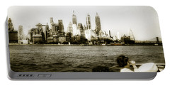 1950s Lower Manhattan Ny Portable Battery Charger