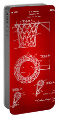 1951 Basketball Net Patent Artwork - Red Portable Battery Charger
