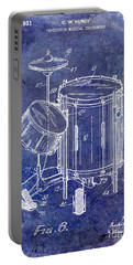1951 Drum Kit Patent Blue Portable Battery Charger
