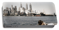 1951 Lower Manhattan New York Skyline Portable Battery Charger