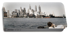 1951 Lower Manhattan Ny Skyline Vintage Portable Battery Charger