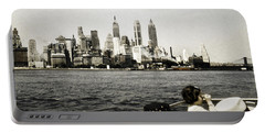 1951 Lower Manhattan Ny Vintage 2 Portable Battery Charger