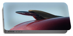 Portable Battery Charger featuring the photograph 1951 Mercury Hood Ornament by Chris Flees