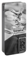 1952 Rolls-royce Silver Wraith Hood Ornament 2 Portable Battery Charger by Jill Reger