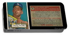 1952 Topps Mickey Mantle Rookie Card Portable Battery Charger