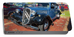 Portable Battery Charger featuring the photograph 1953 Citroen Traction Avant by Rich Franco