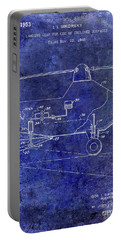 1953 Helicopter Patent Blue Portable Battery Charger by Jon Neidert