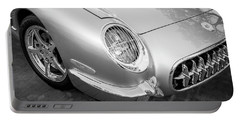 1954 Corvette Nomad Bw Portable Battery Charger by Rich Franco