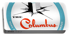 Portable Battery Charger featuring the painting 1955 Columbus Hotel Of Miami Florida  by Historic Image