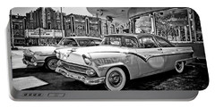 1955 Fairlane Crown Victoria Bw Portable Battery Charger