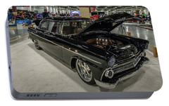 Portable Battery Charger featuring the photograph 1955 Ford Customline by Randy Scherkenbach