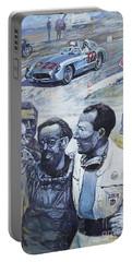 1955 Mercedes Benz 300 Slr Moss Jenkinson Winner Mille Miglia  Portable Battery Charger