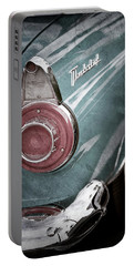 Portable Battery Charger featuring the photograph 1956 Ford Thunderbird Taillight Emblem -0382ac by Jill Reger