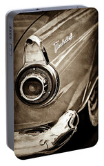 Portable Battery Charger featuring the photograph 1956 Ford Thunderbird Taillight Emblem -0382s by Jill Reger