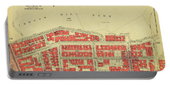 Portable Battery Charger featuring the photograph 1956 Inwood Map  by Cole Thompson