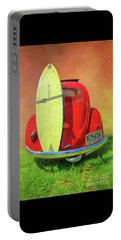 Portable Battery Charger featuring the photograph 1957 Beetle Oval by Marion Johnson