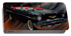 1957 Chevy Bel Air Convertible Digital Oil Portable Battery Charger