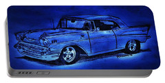 1957 Chevy Bel Air - Moonlight Cruisin  Portable Battery Charger