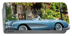 Portable Battery Charger featuring the photograph 1957 Corvette by Brian Jannsen