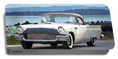 1957 Ford Thunderbird 'port Hole' Hardtop Portable Battery Charger