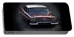 Portable Battery Charger featuring the photograph 1957 Plymouth Belvedere by Baggieoldboy