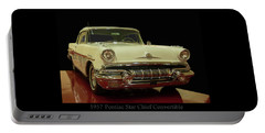 Portable Battery Charger featuring the photograph 1957 Pontiac Star Chief Convertible by Chris Flees