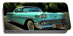 1958 Chevrolet Impala Portable Battery Charger by David Patterson