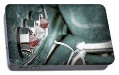 Portable Battery Charger featuring the photograph 1958 Chevrolet Impala Taillight -0544ac by Jill Reger