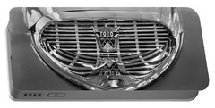 Portable Battery Charger featuring the digital art 1958 Ford Fairlane Sunliner Intake Bw by Chris Flees