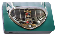 Portable Battery Charger featuring the digital art 1958 Ford Fairlane Sunliner Intake by Chris Flees