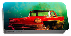 1958 Ford Ranchero Watercolour Portable Battery Charger