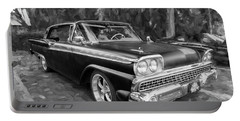 1959 Ford Galaxy C114 Portable Battery Charger by Rich Franco