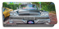 1959 Ford Galaxy C115 Portable Battery Charger by Rich Franco