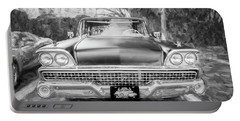 1959 Ford Galaxy C116 Portable Battery Charger by Rich Franco