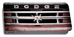 Portable Battery Charger featuring the photograph 1960 Dodge Truck Grille Emblem -0275ac by Jill Reger