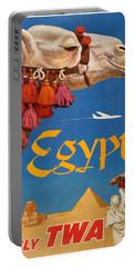 1960 Egypt Twa David Klein Travel Poster  Portable Battery Charger