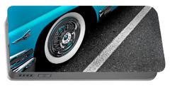 Portable Battery Charger featuring the photograph 1958 Ford Crown Victoria by M G Whittingham